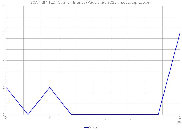 BOAT LIMITED (Cayman Islands) Page visits 2020